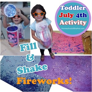 July 4 toddler kid preschool art activity